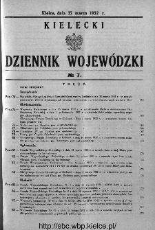 Kielecki Dziennik Wojewódzki 1932, nr 7