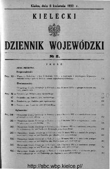Kielecki Dziennik Wojewódzki 1932, nr 8