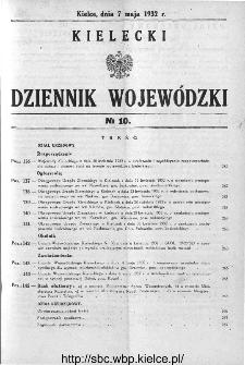 Kielecki Dziennik Wojewódzki 1932, nr 10