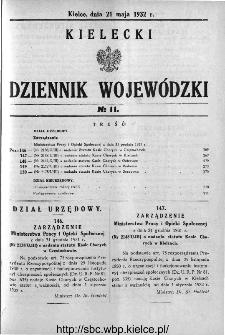 Kielecki Dziennik Wojewódzki 1932, nr 11