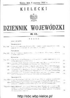 Kielecki Dziennik Wojewódzki 1932, nr 12