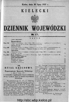 Kielecki Dziennik Wojewódzki 1932, nr 17