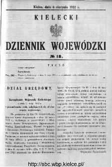 Kielecki Dziennik Wojewódzki 1932, nr 18