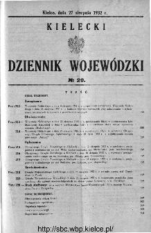 Kielecki Dziennik Wojewódzki 1932, nr 20