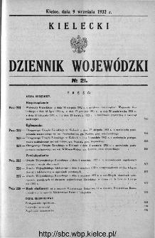 Kielecki Dziennik Wojewódzki 1932, nr 21