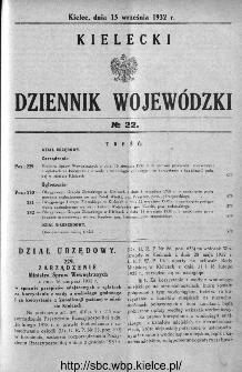 Kielecki Dziennik Wojewódzki 1932, nr 22