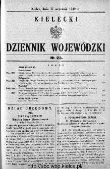 Kielecki Dziennik Wojewódzki 1932, nr 23