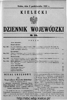 Kielecki Dziennik Wojewódzki 1932, nr 26