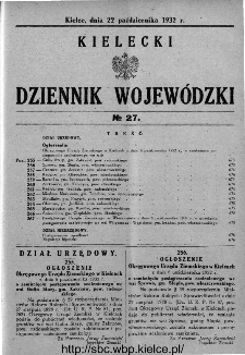 Kielecki Dziennik Wojewódzki 1932, nr 27