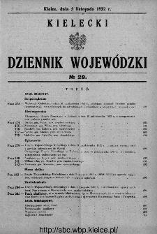 Kielecki Dziennik Wojewódzki 1932, nr 29