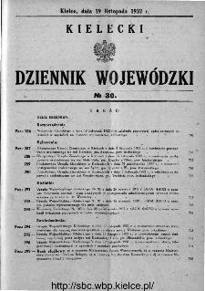 Kielecki Dziennik Wojewódzki 1932, nr 30