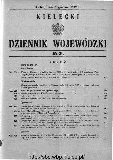 Kielecki Dziennik Wojewódzki 1932, nr 31