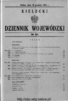 Kielecki Dziennik Wojewódzki 1932, nr 32