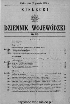 Kielecki Dziennik Wojewódzki 1932, nr 33