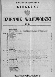 Kielecki Dziennik Wojewódzki 1933, nr 2