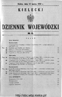 Kielecki Dziennik Wojewódzki 1933, nr 6