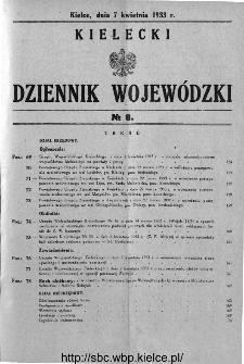 Kielecki Dziennik Wojewódzki 1933, nr 8
