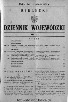 Kielecki Dziennik Wojewódzki 1933, nr 10