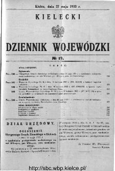 Kielecki Dziennik Wojewódzki 1933, nr 13