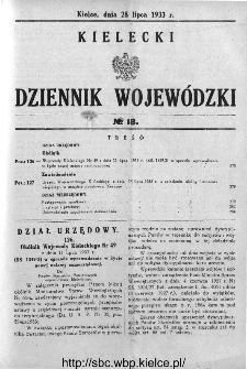 Kielecki Dziennik Wojewódzki 1933, nr 18