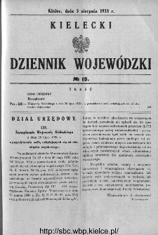 Kielecki Dziennik Wojewódzki 1933, nr 19