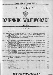 Kielecki Dziennik Wojewódzki 1933, nr 20