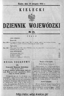 Kielecki Dziennik Wojewódzki 1933, nr 21