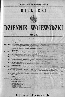 Kielecki Dziennik Wojewódzki 1933, nr 24