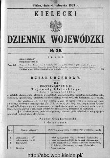 Kielecki Dziennik Wojewódzki 1933, nr 29