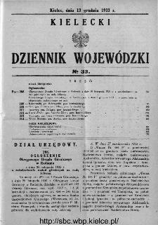 Kielecki Dziennik Wojewódzki 1933, nr 33