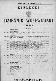 Kielecki Dziennik Wojewódzki 1933, nr 34