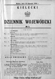 Kielecki Dziennik Wojewódzki 1934, nr 1