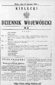 Kielecki Dziennik Wojewódzki 1934, nr 2