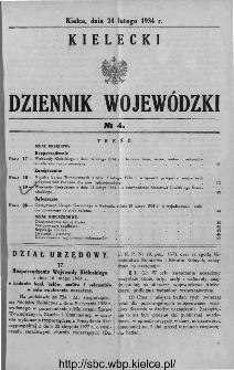 Kielecki Dziennik Wojewódzki 1934, nr 4
