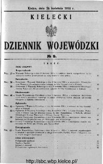 Kielecki Dziennik Wojewódzki 1934, nr 9