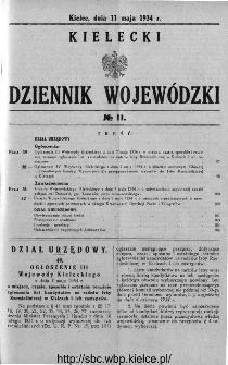Kielecki Dziennik Wojewódzki 1934, nr 11