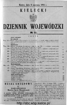 Kielecki Dziennik Wojewódzki 1934, nr 14