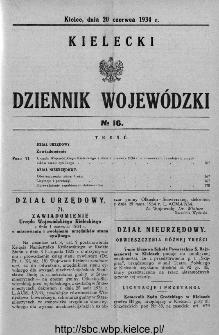 Kielecki Dziennik Wojewódzki 1934, nr 16