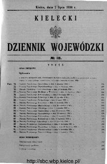 Kielecki Dziennik Wojewódzki 1934, nr 18