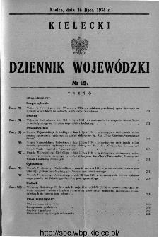 Kielecki Dziennik Wojewódzki 1934, nr 19