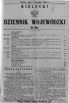 Kielecki Dziennik Wojewódzki 1934, nr 20