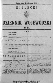 Kielecki Dziennik Wojewódzki 1934, nr 21