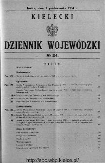 Kielecki Dziennik Wojewódzki 1934, nr 24