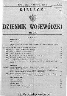 Kielecki Dziennik Wojewódzki 1934, nr 27