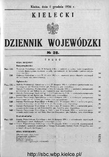 Kielecki Dziennik Wojewódzki 1934, nr 28