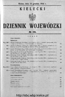 Kielecki Dziennik Wojewódzki 1934, nr 29