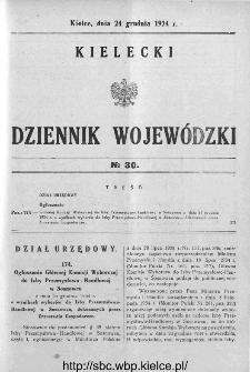 Kielecki Dziennik Wojewódzki 1934, nr 30