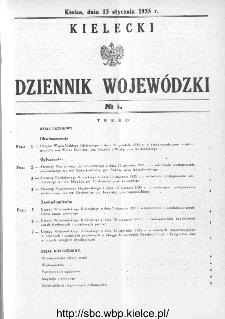 Kielecki Dziennik Wojewódzki 1935, nr 1