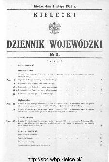 Kielecki Dziennik Wojewódzki 1935, nr 2