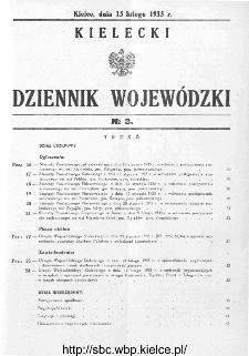Kielecki Dziennik Wojewódzki 1935, nr 3